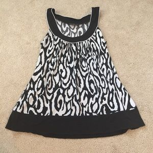 Black and White Tank- Size M